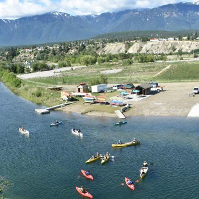 Columbia River Paddle Location in Invermere, BC