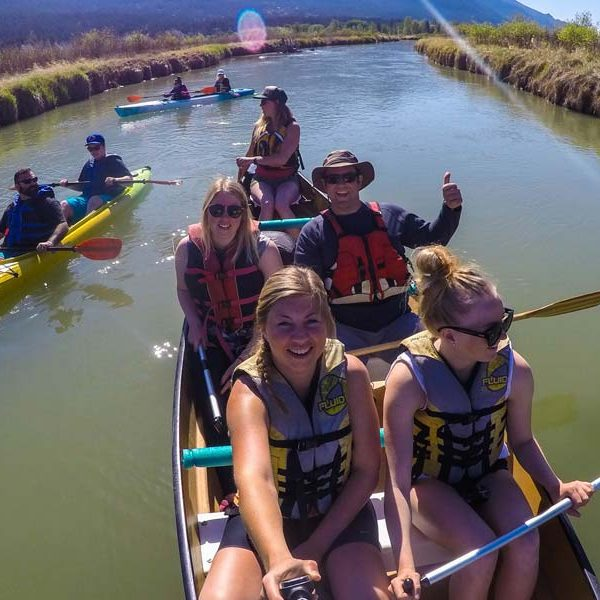 Guided Kayak and canoe paddle from Fairmont Hot Springs to Lakeshore Resort